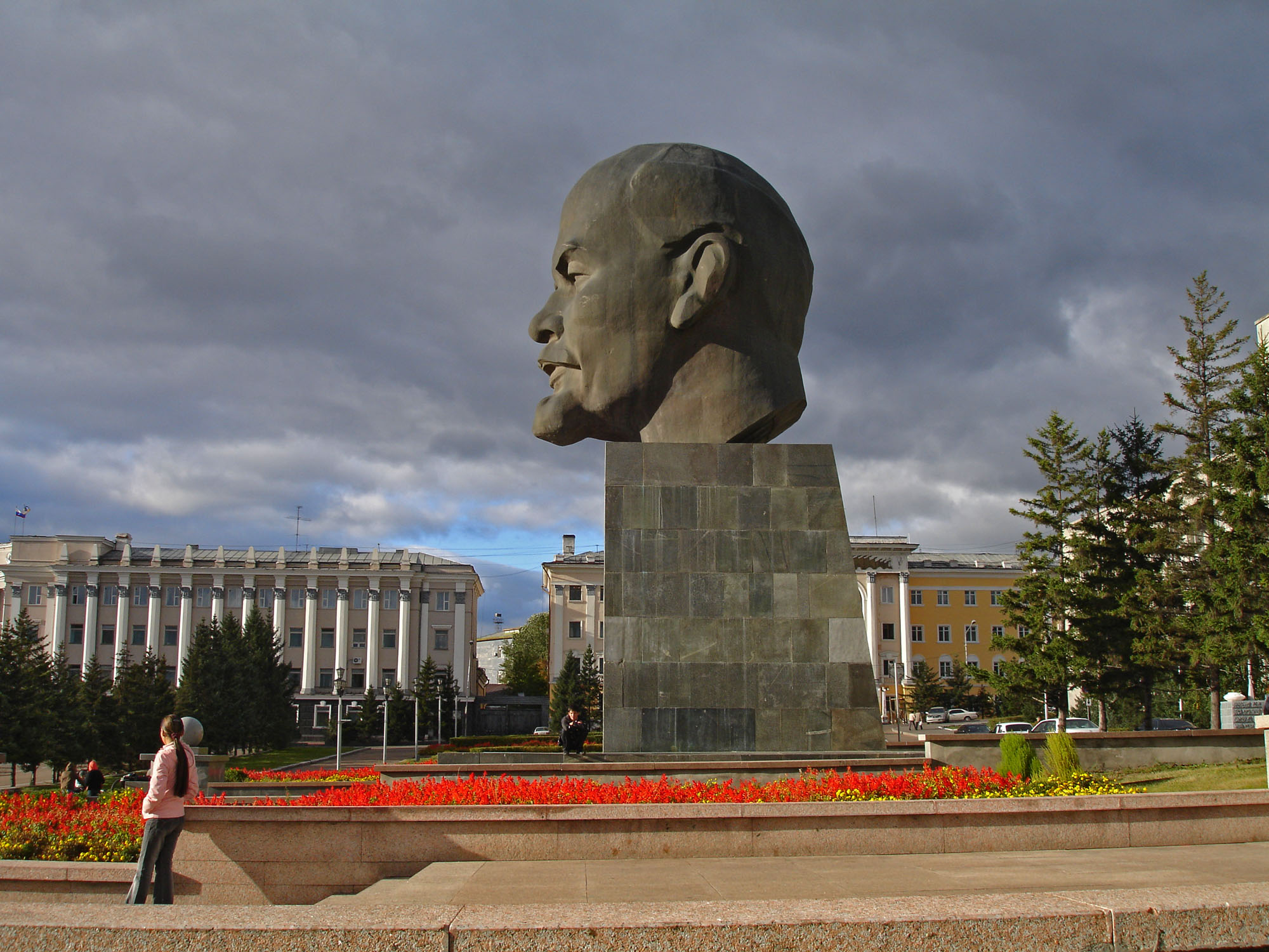 Lenin's statue in Ulan Ude, closed city during the USSR